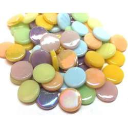 Pastilles multicolores pastel 18 mm
