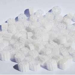 Millefiori translucide blanc