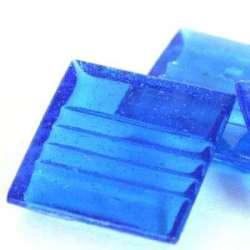 Pâte de verre mosaique transparente bleu