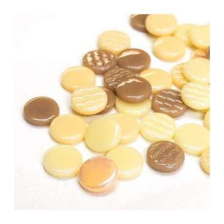 Pastilles crème 18 mm