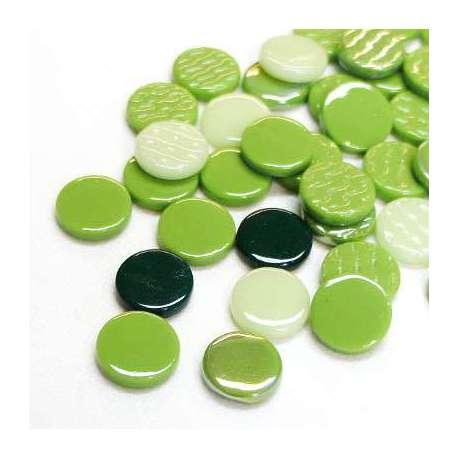 Pastilles mélange vert 18 mm