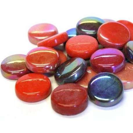Grandes pastilles teinte rouge