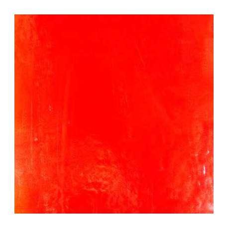 Verre artisanal orange pour mosaique