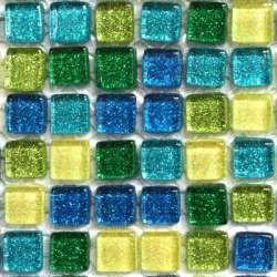 Micro pailleté seulement bleu foncé et vert foncé (pas d'or)