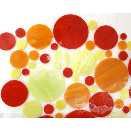 Cercles de verre orange jaune