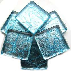 Réflexion mosaïque bleu glacier très lumineux