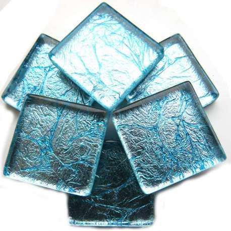 Réflexion mosaique bleu