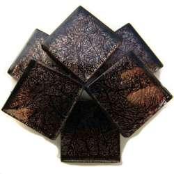 Réflexion mosaique brun foncé