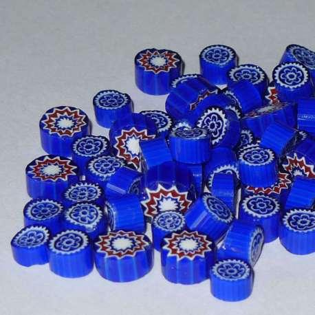 Millefiori opaque bleu