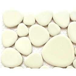 Galets grès émaillé blanc