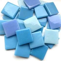 Pâte de verre espagnole camaïeu bleu