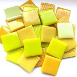 Pâte de verre espagnole camaïeu jaune