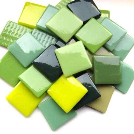 Pâte de verre espagnole camaïeu vert