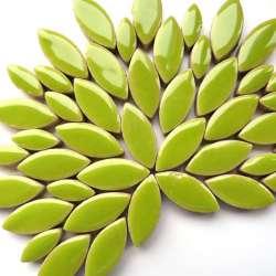 Ellipse grès émaillé 2 tailles couleur kiwi
