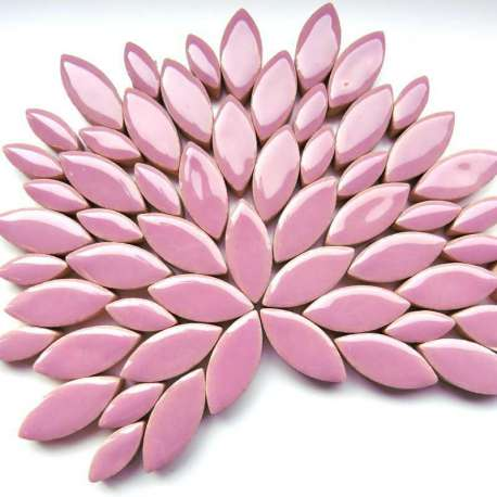 Ellipse grès émaillé 2 tailles couleur lilas