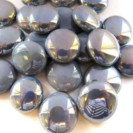 billes plates gris Opalescent