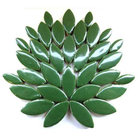 Ellipse grès émaillé 2 tailles couleur vert sapin