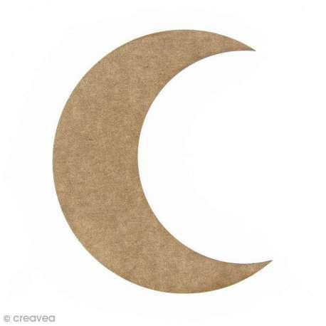 Lune en bois à décorer - 15 cm