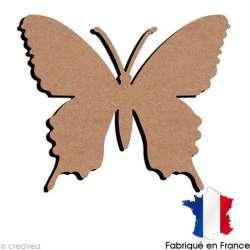 Papillon en bois à décorer - 15 x 12,5 cm