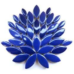 Ellipse grès émaillé 2 tailles couleur bleue Indigo