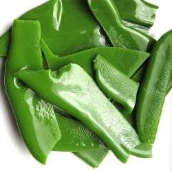 Chutes de plaques de smalt vert chou et vert printemps (200 grs)