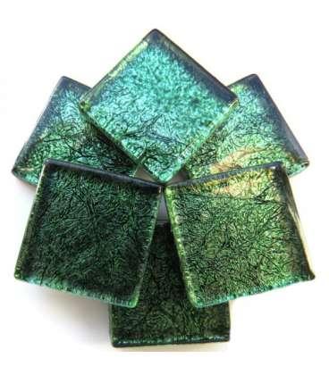 Réflexion mosaique vert lumineux