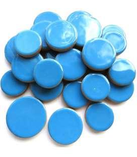 Céramique ronde bleue