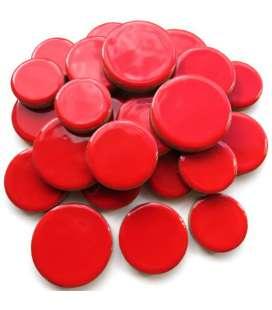 Céramique ronde rouge