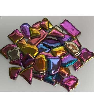Céramique irrégulière or,argent,irisée