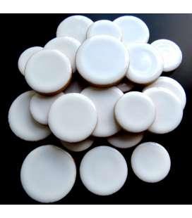 céramique ronde blanche