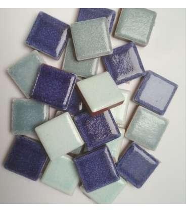 grès émaillé bleus divers