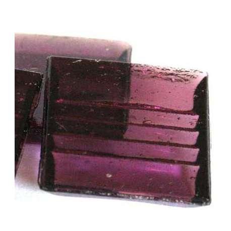Pâte de verre mosaique transparente prune