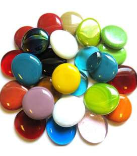 Billes plates XL multicolores par 200g. diam: 38mm environ