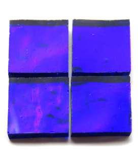 miroir ondulé artisanal bleu amiral