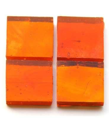 miroir ondulé artisanal orange