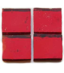 miroir ondulé artisanal rouge sombre