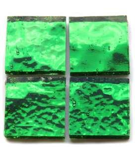 miroir ondulé artisanal vert