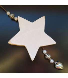 support en bois étoile à suspendre
