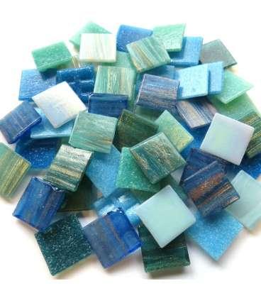 mix pâte de verre bleu/vert