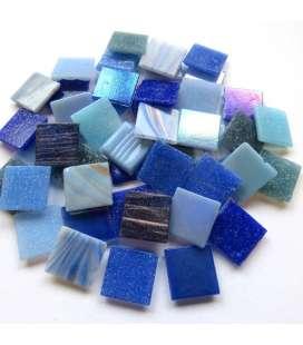 mix pâte de verre bleu