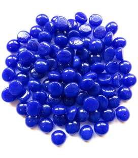 mini billes plates bleue