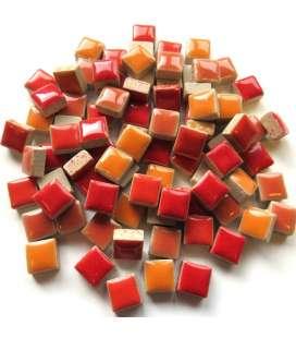 Mini céramique mix rouge orange