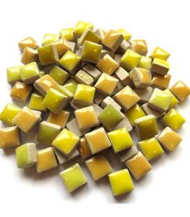 Mini céramique émaillée mix jaune citron, jaune d'or ...