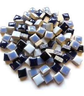 Mini céramique bleu lavande, indigo, delphinium...