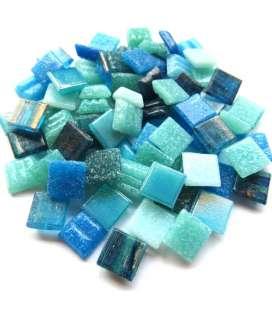 mix de pâte de verre bleu/vert