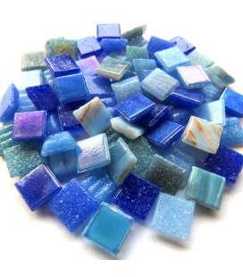 mix mini pâte de verre bleue