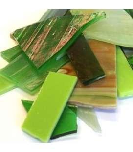 Chutes de verre vert