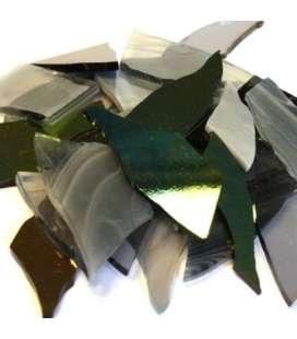 Chutes de verre gris noir