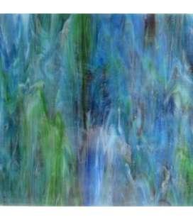 verre coloré bleu-vert chiné sublime.