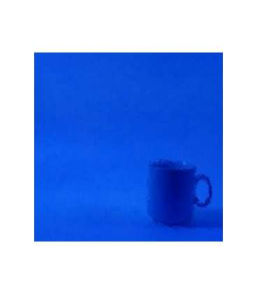 verre bleu cobalt transparent